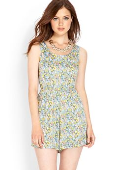 Floral Woven Romper | FOREVER21 #F21Contemporary