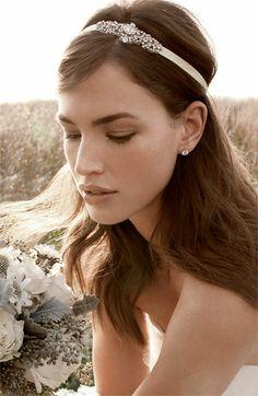 Nina 'Cece' Crystal Ribbon Head Wrap | Nordstrom