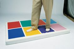A slimline design, the Musical Squares combines gross-motor movement with cause-and-effect understanding using fabulous sound quality, bright colors and enormous flexibility. Sensory Rooms, Sensory Play, Sensory Equipment, Color Pad, Colour, Auditory Processing Disorder, Motor Planning, Interactive Walls, Soft Play