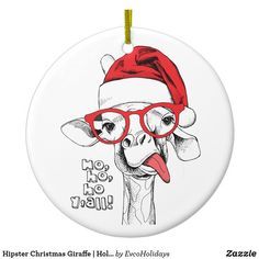 Christmas Tree Decorations, Christmas Tree Ornaments, Giraffe Decor, Christmas Hat, Christmas Holidays, Hipsters, Xmas Cards, Ceramic Pottery, Adulting