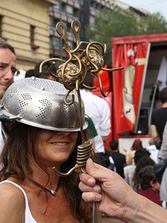 "Pastafarians rejoice as Church of the Flying Spaghetti Monster is granted permission to register as a religion in Poland.  Crowds outside the court chanted ""pasta, pasta""."
