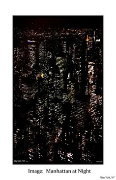 Manhattan at night - Image: City view from 30 Rock, NYC | manuelle scarves