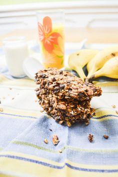 Barres de céréales chocolat & banane | Amandise | Les gourmandises d'Amandine