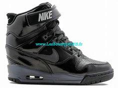 new product c5cca 6654a Nike Air Revolution Sky Hi GS - Chaussures Nike Pas Cher Pour Femme  Noir Dark Gris 599410-009