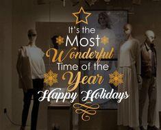 Christmas Window, Wall Vinyl Decal, Shop Retail Window Display, Happy Holidays Decal, Seasonal Window Decoration, Snowflakes Sticker