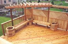 The pergola kits are the easiest and quickest way to build a garden pergola. There are lots of do it yourself pergola kits available to you so that anyone could easily put them together to construct a new structure at their backyard. Pergola Attached To House, Deck With Pergola, Outdoor Pergola, Backyard Pergola, Pergola Shade, Pergola Plans, Pergola Kits, Cheap Pergola, Pergola Ideas