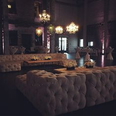 Beautiful reception tonight fully utilized our rental inventory with the Soho couches and Chandelier cluster!  #warehouse #mn #northloop #minneapolis