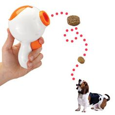 Treat Launcher sends him running happily for his snacks! @Amee Coulter you need this!