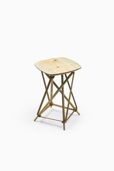 Lith Lith Lundin stool in pine and leather at Studio Schalling
