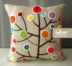 Sukan / Pen Pattern Pillow Cover - 14x14. $43,00, via Etsy.