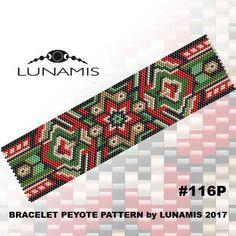 Peyote bracelet pattern, odd count, peyote pattern, stitch pattern, pdf file, pdf pattern, #116P by LunamisBeadsPatterns on Etsy