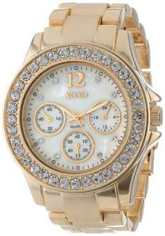 XOXO Women's XO5651 Gold-Tone Bracelet Analog Watch - http://www.specialdaysgift.com/xoxo-womens-xo5651-gold-tone-bracelet-analog-watch/