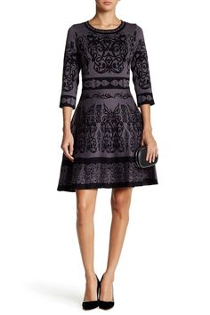 Knit Fit & Flare Dress by Taylor on @nordstrom_rack