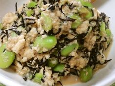 ひじきと枝豆のお豆腐煮の画像