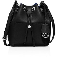 Michael Michael Kors Small Greenwich Bucket Bag (3.599.745 IDR) ❤ liked on Polyvore featuring bags, handbags, shoulder bags, bolsas, michael kors, purses, bucket bag, michael michael kors purse, michael michael kors handbags and saffiano leather handbag