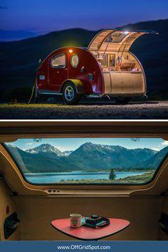 Building A Teardrop Trailer, Teardrop Camping, Towing Vehicle, Tv Entertainment Centers, Industrial Design Sketch, Retro Campers, Portable Toilet, Van Living, Toyota Land Cruiser