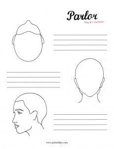 Head diagram stencils - hairbrained | Haircut Avanard | Pinterest ...