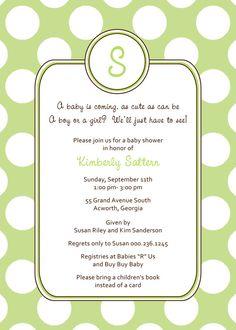 baby shower invitation - unknown gender  neutral