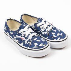 """fddfac7a18ab3b Vans """"Snoopy Skating Authentic"""" blaue Sneakers mit Snoopy-Print"""