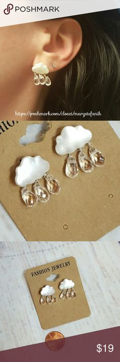 NWT Cloud and Rain Drop Fashion Earrings  NWT Cloud and Rain Drop Fashion Earrings. Fun and cute for a rainy day! Alloy metal and plastic. Imported.   Please let me know if you have any questions. Happy Poshing! Mary Stefanik  Jewelry Earrings