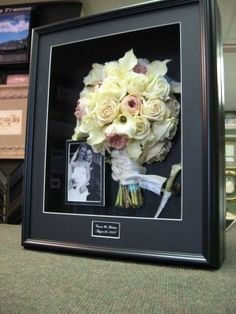 Freeze Dried Wedding Bouquet - ive never seen this before, so cool! and much better than throwing it out!