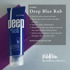 #doTERRA Blue Rub is incredible for aches and pains. #WildFlowCollective