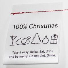 100% christmas label