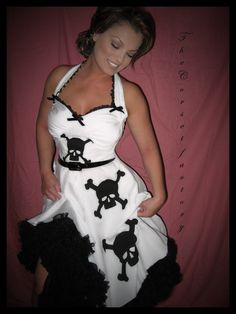 Awesome skull pin up dress Love It