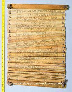 Palm manuscript from Java.