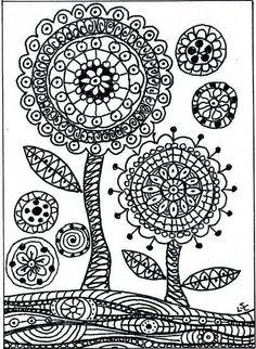 Zendala flowers by dots 'n' doodles, via Flickr