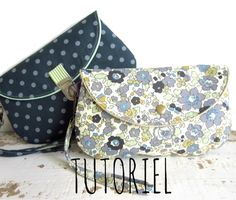 Course-project - Duo pouch - Learn to knit - Makerist course Diy Clutch, Clutch Bag, Sew Wallet, Diy Sac, Diy Bags Purses, Wallet Tutorial, Couture Sewing, Purse Organization, Sewing Accessories