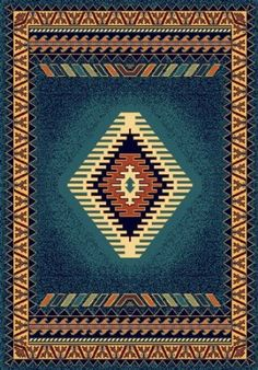 lovely blue southwestern rug