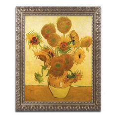 Vase with Sunflowers by Vincent van Gogh Framed Painting Print