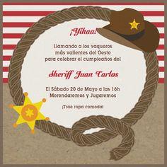Cowboy Vaquero-Celebra con estilo con las invitaciones y tarjetas virtuales de LaBelleCarte: www.LaBelleCarte.com