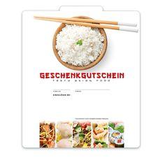 Gutscheinkarte für asia Restaurants #runningsushi Restaurants, Food, Fine Dining, Things To Do, Gifts, Diners, Meal, Essen, Hoods
