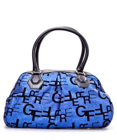 Gianfranco Ferre Wool Shoulder Bag In Blue Designer Bags Handbags Secret S