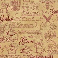 Patchwork+Garden+6060-11+-+marque:+Moda-+couleur:+blanc+au+beige+-+thème:+Ecritures+et+caractères-+description:+Tissu+100%+coton+en+110cm+de+largeur+(repères+en+inchs+-+1+inch+=+2,54cm)