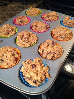 Life On Our Terms: Oatmeal Protein Muffins... I am making these right now yum, but I only have chocolate mocha meal replacement shake and vanilla I wonder which I should use.