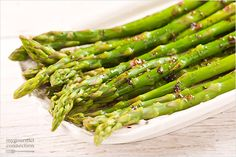 An easy side dish of tender, steamed asparagus drizzled with a combination of brown butter and balsamic vinegar.