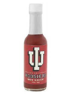 Indiana Hoosiers Hot Sauce is a classic cayenne pepper sauce that's officially licensed by Indiana University. It makes a great gift and a fun tailgating or game-day party condiment. Buy it on sale here for only $6.45: http://www.carolinasauces.com/Indiana_Hoosiers_p/1834iu.htm