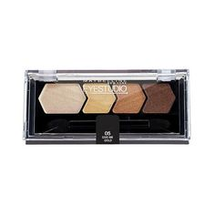 Maybelline Eye Studio Color Plush Silk Eyeshadow Quad - Give Me Gold -... ($7.99) ❤ liked on Polyvore featuring beauty products, makeup, eye makeup, eyeshadow, give me gold, gold eyeshadow, gold eye makeup and gold eye shadow