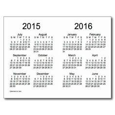 2018-2019 School Year Mini Calendar by Janz Postcard