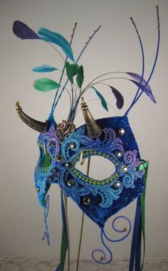 Blue Sea God Masquerade Mask