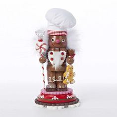 9 Hollywood Gingerbread Kisses Jolly Chef Wooden Christmas Nutcracker *** Want to know more, click on the image.
