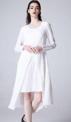 d92b26bd99 White linne dress mini dress prom dress women summer by xiaolizi Summer  Dresses For Women