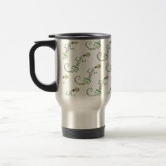 #colored lizard Tribal Travel Mug - #office #gifts #giftideas #business