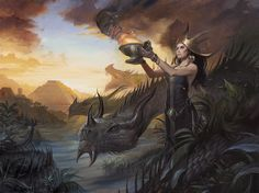 Dragon Queen, Lucas Graciano on ArtStation at https://www.artstation.com/artwork/Oa346