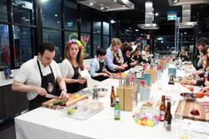 Master Chef Class: Challenge your team in a friendly cooking competition.