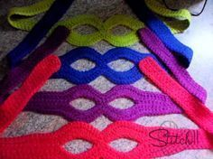 Free Ninja Mask Crochet Pattern. I'll need this in black when I decide to trick…