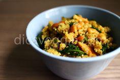Quinoa com espinafre e castanha de caju | DicaVeggie